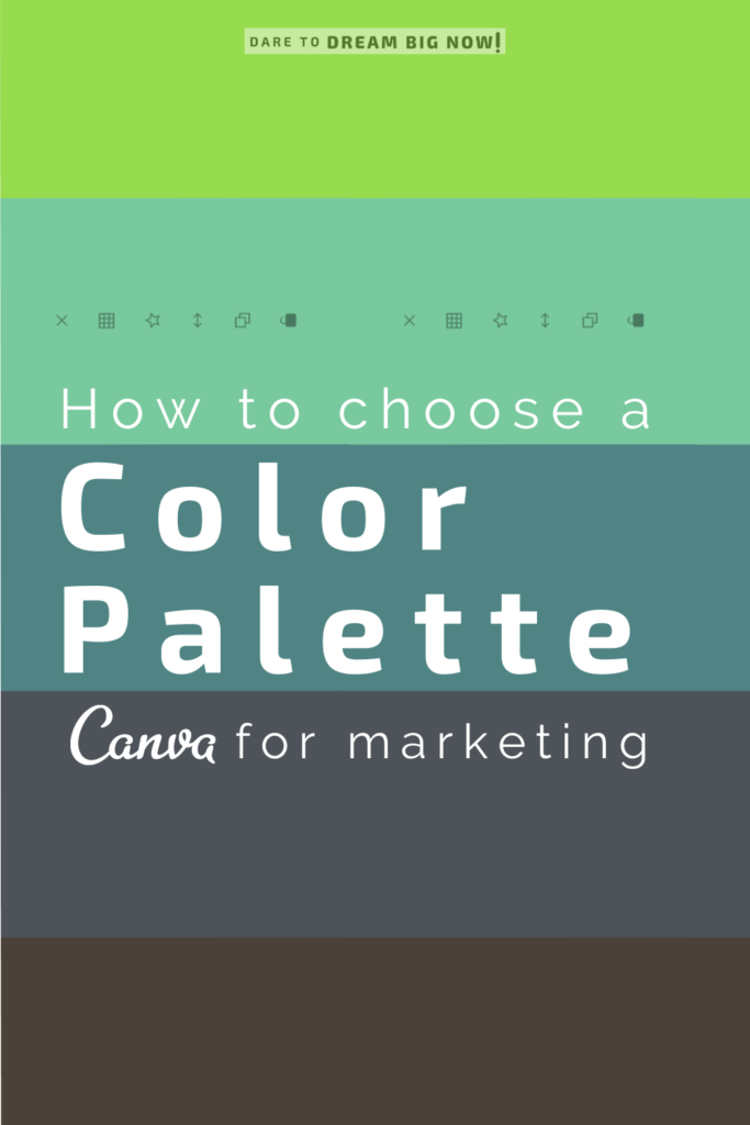 How to choose a colot palette, Canva for marketing