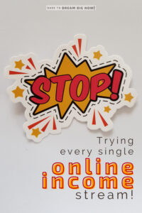 stop usisng every single online income stream