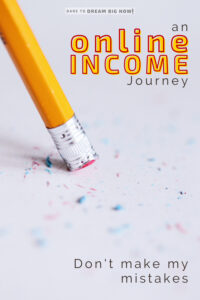 online income my mistakes