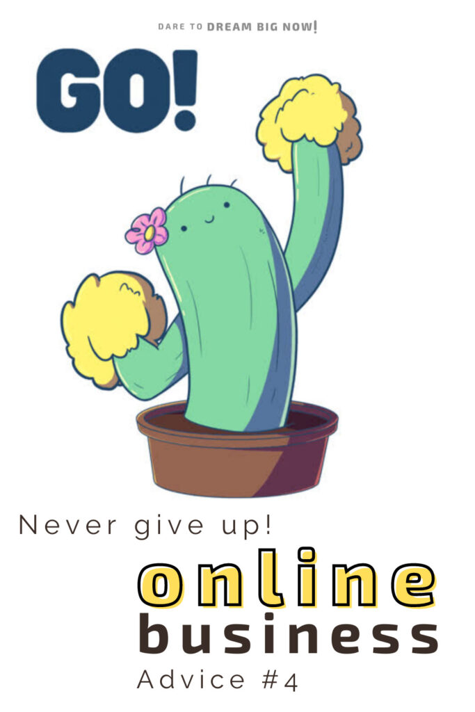 online business never give up!