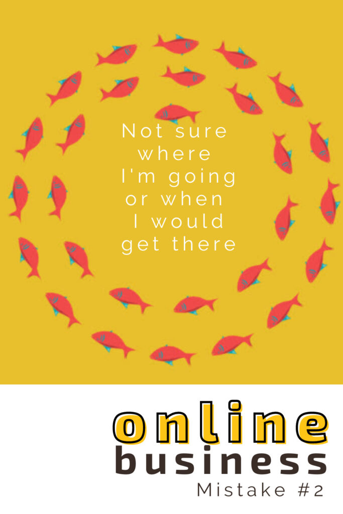 online business not knowing where you're going